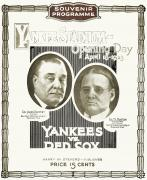 Yankees. Red Sox Prints - Baseball Program, 1923 Print by Granger