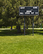 Baseball Field Art - Baseball Scoreboard by Thom Gourley/Flatbread Images, LLC