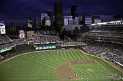 Baseball Game Framed Prints - Baseball Target Field  Framed Print by Paul Plaine