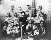 Baseball Bat Framed Prints - BASEBALL TEAM, c1898 Framed Print by Granger