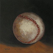 Baseball Game Painting Framed Prints - Baseball Framed Print by Torrie Smiley