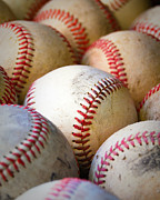 Baseball Close Up Framed Prints - Baseballs - Depth of Field Framed Print by Ben Haslam
