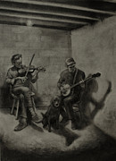 Basement Drawings Prints - Basement Ballad Print by Anthony Shechtman