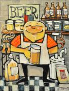 Brew Painting Framed Prints - Basement Brewer Framed Print by Tim Nyberg