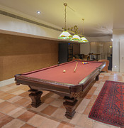 Tasteful Photo Posters - Basement with pool table Poster by Noam Armonn