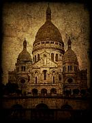 Black And White Paris Posters - Basilica Poster by Andrew Paranavitana