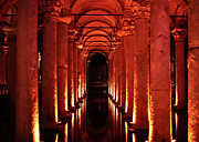 Sultanhmet Prints - Basilica Cistern Print by John Rizzuto