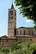 Basilica Di Santa Chiara    Assisi Italy Print by Jon Berghoff