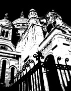 Sacre Coeur Art - Basilique de Sacre Coeur in Paris by Lois Wilkes