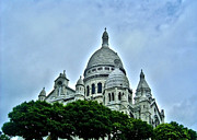 Visitor Prints - Basilique du Sacre-Coeur - Paris  Print by Juergen Weiss