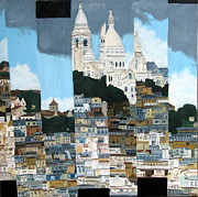 Sacre Coeur Art - Basilique Sacre Coeur by David  Brown