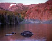 Lemhi Mountains Posters - Basin Lake Sunrise 2 Poster by Leland Howard