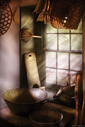 Washboard Prints - Basket Maker - In a basket makers house  Print by Mike Savad