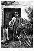 Basket Maker Framed Prints - BASKET MAKER, 19th CENTURY Framed Print by Granger