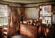 Amish Prints - Basket Maker - The basket makers house  Print by Mike Savad