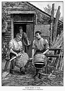 Basket Maker Framed Prints - Basket Makers, 1883 Framed Print by Granger