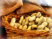 Peanut Framed Prints - Basket of Peanuts Framed Print by Susan Savad