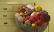 Drawers Prints - Basket of Yarn Print by Noam Armonn