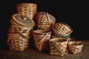 Hand Made Metal Prints - Basket Still Life 01 Metal Print by Tom Mc Nemar