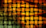 Interpretive Metal Prints - Basket weave abstract. Metal Print by Emilio Lovisa