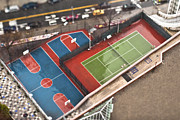 Basketball Photo Posters - Basketball and Tennis Courts Poster by Eddy Joaquim
