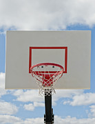 Basketball Sports Prints - Basketball Backboard With Hoop and Net Print by Thom Gourley/Flatbread Images, LLC