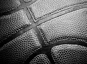 Dunk Metal Prints - Basketball -Black and White Metal Print by Ben Haslam
