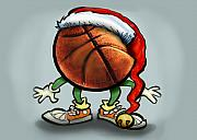 Basketball Christmas Print by Kevin Middleton