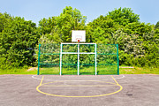 Hoops Posters - Basketball court Poster by Tom Gowanlock