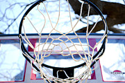 Basket Ball Posters - Basketball Goal  Poster by Malania Hammer