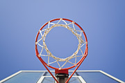 Basketball Sports Prints - Basketball Hoop And Net Print by Bryan Mullennix