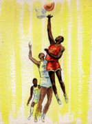 Basketball Paintings - Basketball by Olga Kaczmar