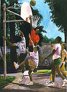 African-americans Originals - Basketball Players by Jim Gleeson