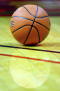 Basket Ball Game Prints - Basketball reflections Print by Alan Look