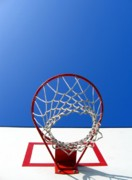 Backboard Prints - Basketball Scene Print by Yali Shi