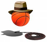 Basketball Mixed Media Prints - Basketball with Fedora Print by Gravityx Designs