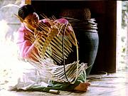 Basket Photo Originals - Basketmaker in South Korea by Jill Baker