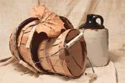 Stoneware Prints - Baskets With Crock I Print by Tom Mc Nemar