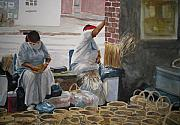 Charleston Painting Posters - Basketweavers Poster by Shirley Braithwaite Hunt
