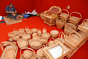 Wicker Baskets Prints - Basketwork Print by Gaspar Avila