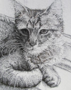 Pointillism Art - Basking in the Sun by Heidi Copeman