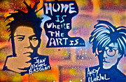 Free Speech Paintings - Basquait and Worhol by Tony B Conscious