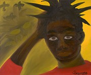 Jean Painting Originals - Basquiat by Salvadore Delvisco
