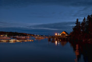 Piers Prints - Bass Harbor at night Print by John Greim