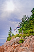 Bass Head Lighthouse Posters - Bass Harbor Head Poster by Anne Kitzman