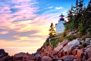 Bass Harbor Prints - Bass Harbor Head Light House  Print by Emmanuel Panagiotakis