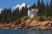 Bass Head Lighthouse Posters - Bass Harbor Head Lighthouse Poster by Jeremy Dentremont
