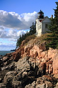 Bass Head Lighthouse Posters - Bass Harbor Head Lighthouse Poster by Roupen  Baker