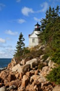 New England Lighthouse Prints - Bass Harbor Light Print by John Greim
