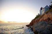 Bass Head Lighthouse Posters - Bass Harbor Light, Low Angle View Poster by Thomas Northcut